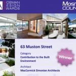 Mosman Design Award poster
